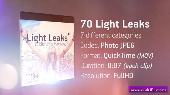 Videohive Light Leaks & Bokehs Package