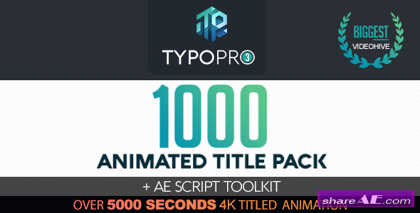 Videohive Typopro | Typography Pack - Title Animation - Kinetic - Minimal - Vintage
