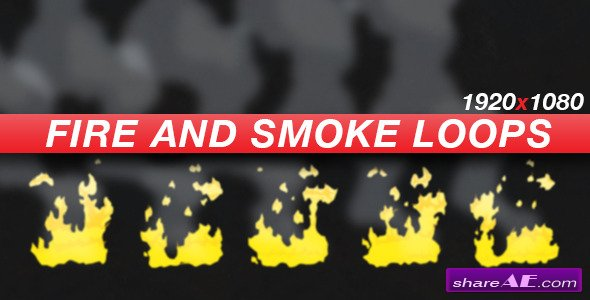Videohive Anime Action Essentials - Fire and Smoke Loops - Motion Graphics