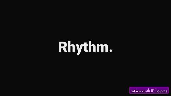 Videohive Rhythmic Typography