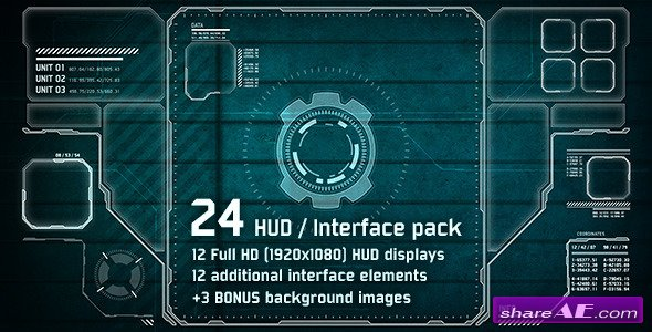 Videohive 24 Hi-Tech HUD / Interface Pack - Motion Graphics
