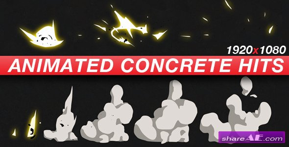 Videohive Animated Concrete Hits - Anime Action Essentials - Motion Graphics