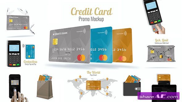 Videohive Credit Card Promo Mock-up