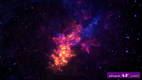 Videohive Space Nebula Multicolor 2 - Motion Graphics