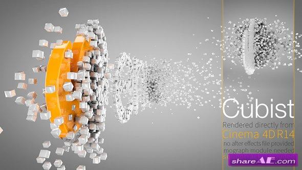 Videohive Cubist C4D Logo Animation