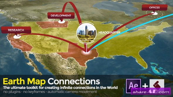 Videohive Earth Map Connections