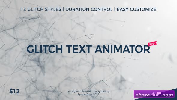 Videohive Glitch Text Animator PRO