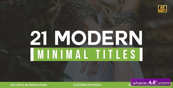 Videohive 21 Modern Titles
