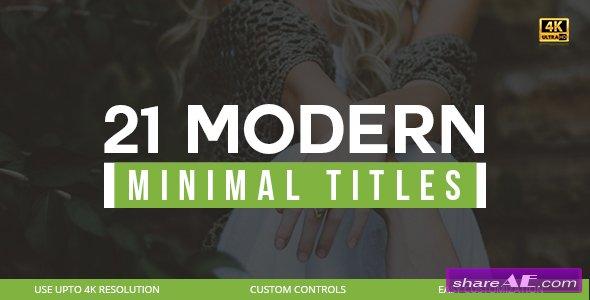 Videohive 21 Modern Titles