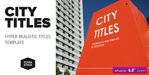 Videohive City Titles | Realistic Titles Opener