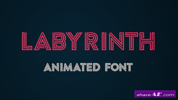 Videohive Labyrinth Animated Font