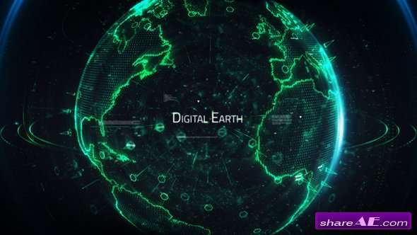 Videohive Digital Earth Title