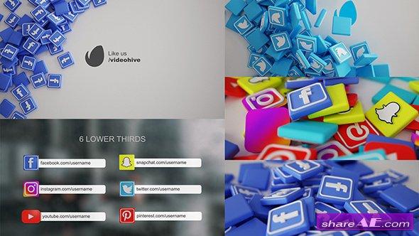Videohive Social Media Pack 3D