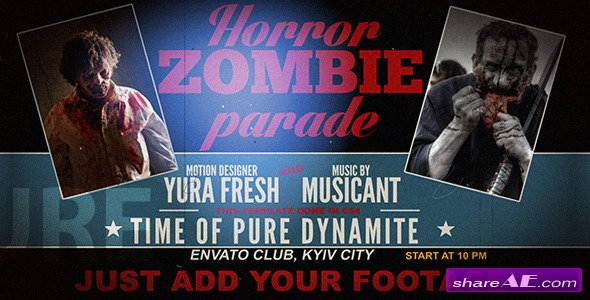 Videohive Horror Zombie Parade