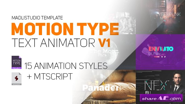 Videohive Motion Type - Text Animator
