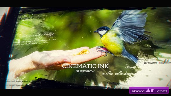 Videohive Cinematic Ink Slideshow