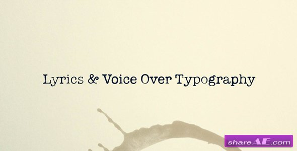 Videohive Lyrics and Voice Over Typography