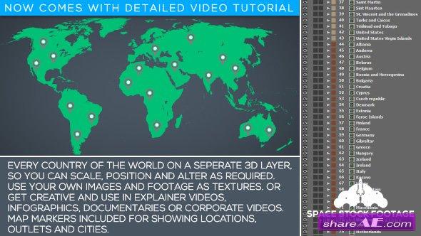 Videohive World Map Kit