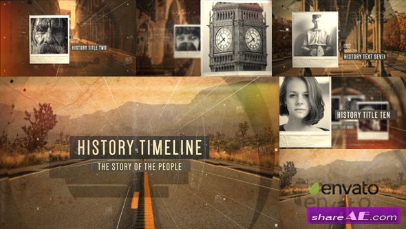 Videohive History Timeline Opener
