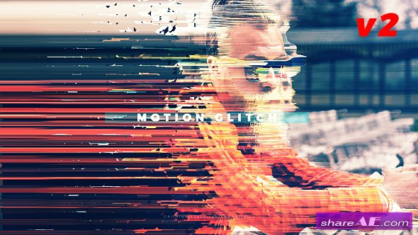 Videohive Fast Motion Glitch Slideshow