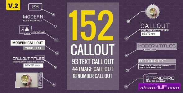 Videohive 152 Call-Out Titles