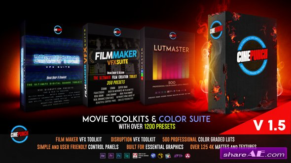 Videohive CINEPUNCH Master Suite