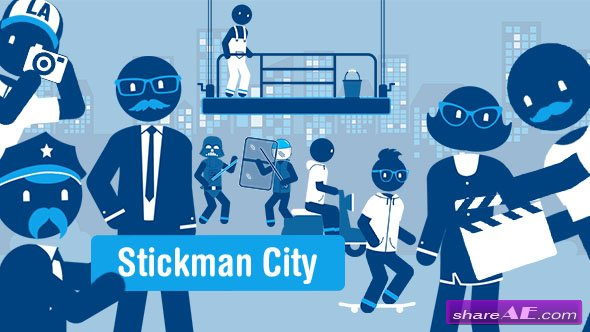 Videohive Stickman City - Explainer Video Kit