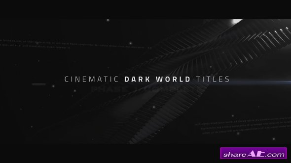 Videohive Cinematic Titles - Dark World