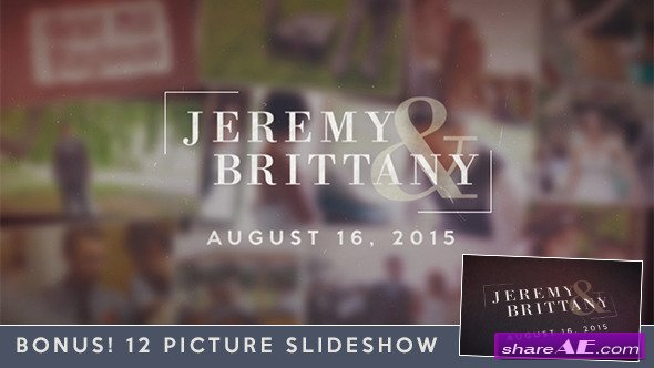 Videohive Wedding Moments Slideshow