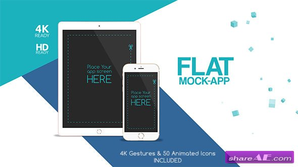 Videohive Flat Mock App Commercial