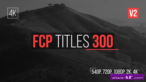 Videohive FCP Titles 300