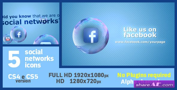 Videohive Social Soap Bubble Icon