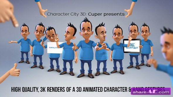 Videohive Character City 3D: Cuper presents