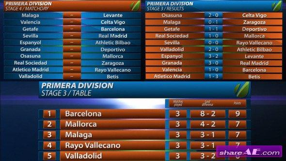 Videohive Primera Division Line Up