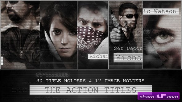 Videohive The Action Titles