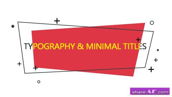 Videohive Typography & Minimal Titles