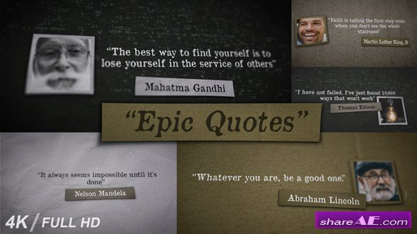 Videohive Epic Quotes