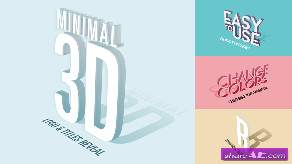 Videohive Minimal 3D - Logo & Titles Reveal