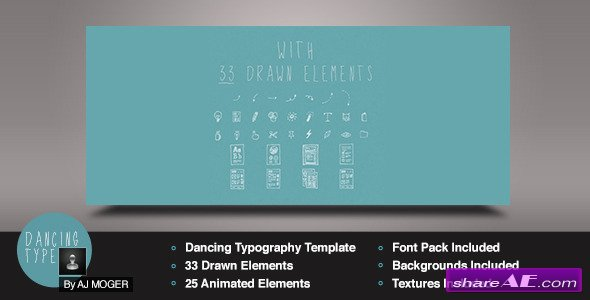 Videohive Dancing Type Kit After Effects