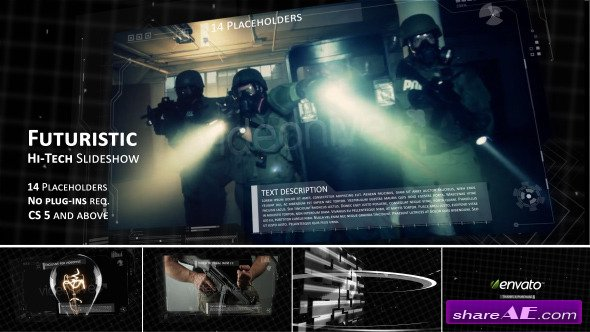 Videohive Hi-tech Futuristic Video Slideshow
