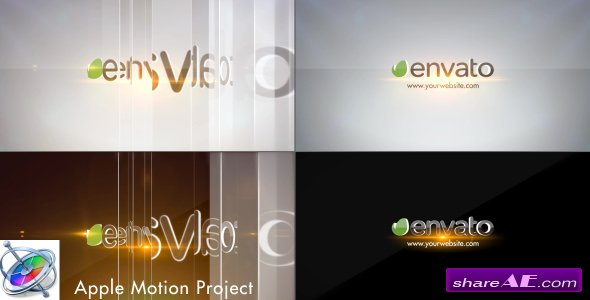 Videohive Simple Glossy Slider Logo - Apple Motion