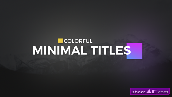 Videohive Color full Minimal Titles