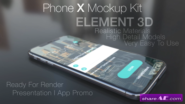 Videohive Phone X Mockup Kit