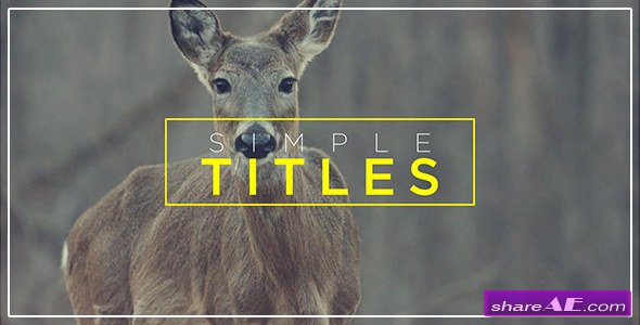 Videohive Minimal Transitions & Titles