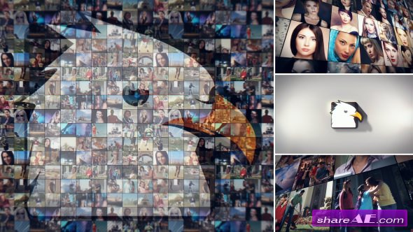 Videohive Simple Mosaic Logo