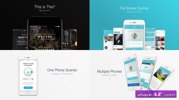 Videohive The7 - App Presentation Kit
