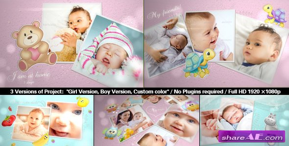 Videohive Baby Photo Album | Lovely Slideshow