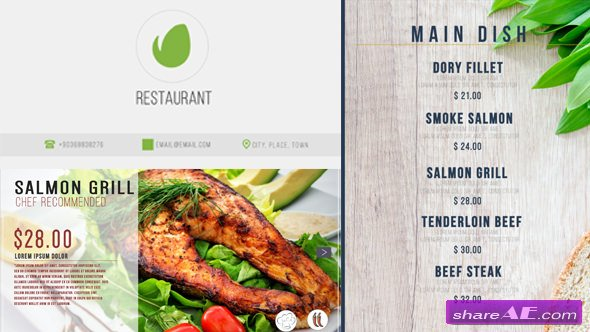 Videohive Restaurant Digital Food Menu