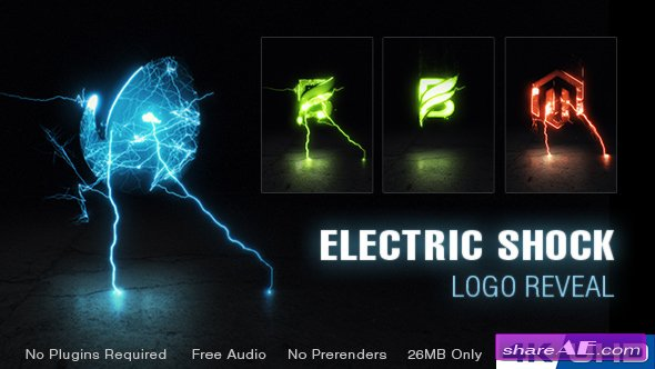 Videohive Electric Shock Logo Reveal