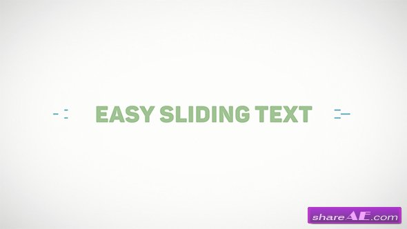 Videohive Easy Sliding Text